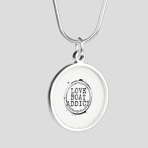 Love Boat Addict Silver Round Necklace
