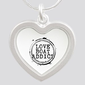 Love Boat Addict Silver Heart Necklace