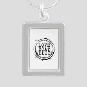 Love Boat Addict Silver Portrait Necklace