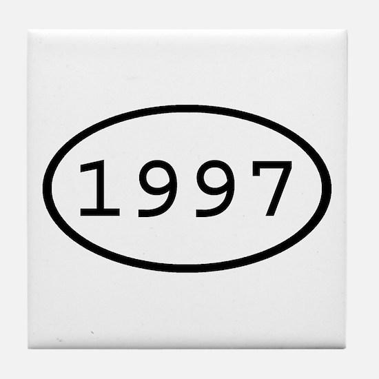 1997 Oval Tile Coaster