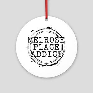 Melrose Place Addict Round Ornament