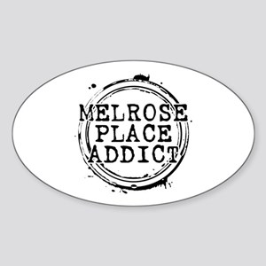 Melrose Place Addict Oval Sticker