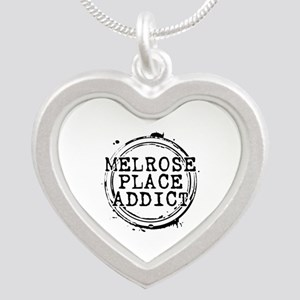 Melrose Place Addict Silver Heart Necklace