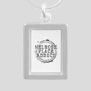 Melrose Place Addict Silver Portrait Necklace