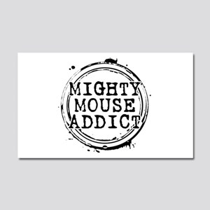 Mighty Mouse Addict Car Magnet 20 x 12