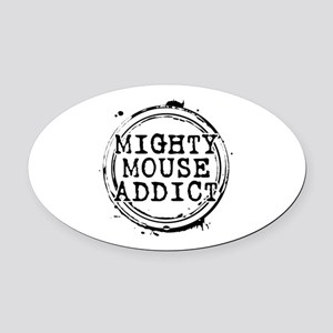 Mighty Mouse Addict Oval Car Magnet