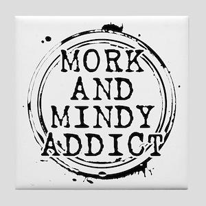 Mork and Mindy Addict Tile Coaster