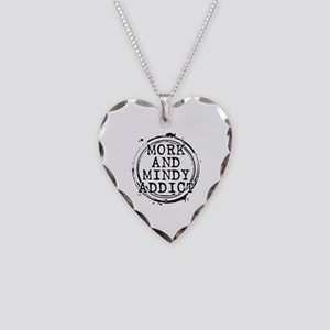 Mork and Mindy Addict Necklace Heart Charm