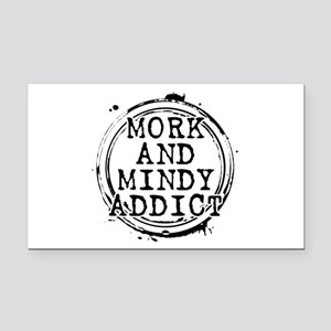 Mork and Mindy Addict Rectangle Car Magnet