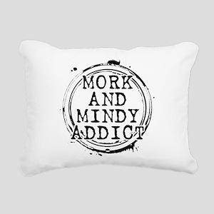 Mork and Mindy Addict Rectangular Canvas Pillow