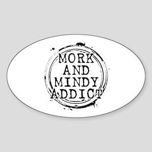Mork and Mindy Addict Oval Sticker