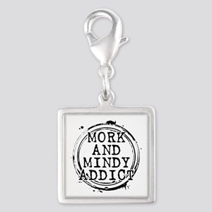 Mork and Mindy Addict Silver Square Charm