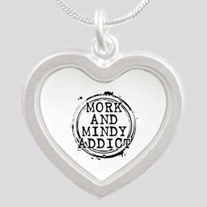 Mork and Mindy Addict Silver Heart Necklace
