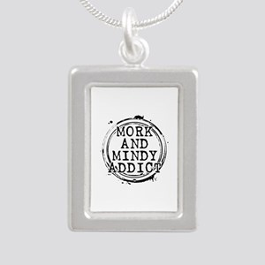 Mork and Mindy Addict Silver Portrait Necklace