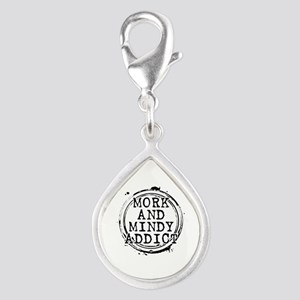 Mork and Mindy Addict Silver Teardrop Charm