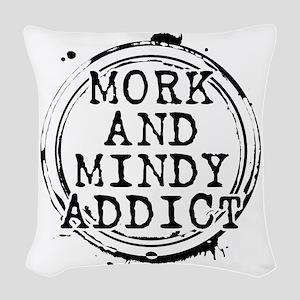 Mork and Mindy Addict Woven Throw Pillow