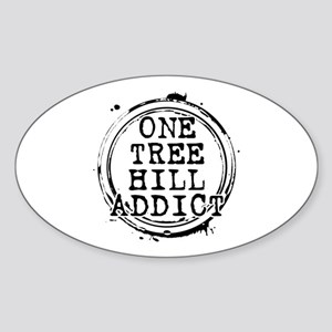 One Tree Hill Addict Oval Sticker