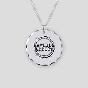 Rawhide Addict Necklace Circle Charm