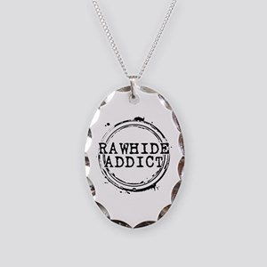 Rawhide Addict Necklace Oval Charm