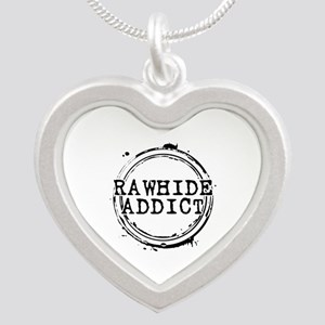 Rawhide Addict Silver Heart Necklace