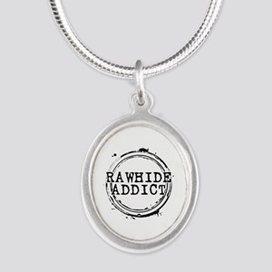 Rawhide Addict Silver Oval Necklace