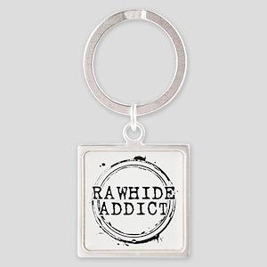 Rawhide Addict Square Keychain
