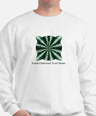 Medieval Celtic Knot Green Personalized Sweatshirt