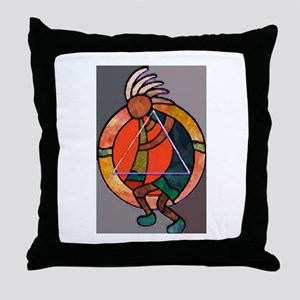 Kokopeli JOY Throw Pillow