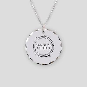 Shameless Addict Necklace Circle Charm