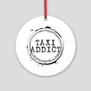 Taxi Addict Round Ornament