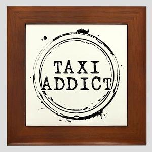 Taxi Addict Framed Tile