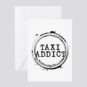 Taxi Addict Greeting Card
