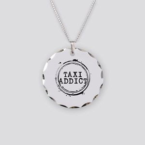 Taxi Addict Necklace Circle Charm