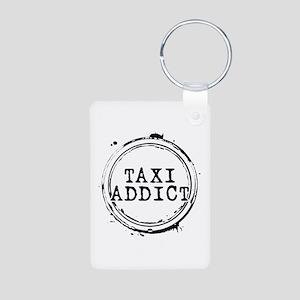 Taxi Addict Aluminum Photo Keychain