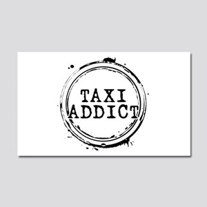 Taxi Addict Car Magnet 20 x 12