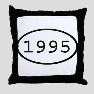 1995 Oval Throw Pillow