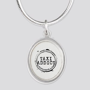 Taxi Addict Silver Oval Necklace