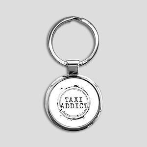 Taxi Addict Round Keychain