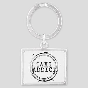 Taxi Addict Landscape Keychain