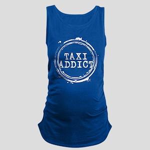 Taxi Addict Maternity Tank Top