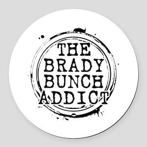 The Brady Bunch Addict Round Car Magnet