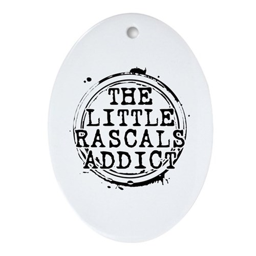 The Little Rascals Addict Oval Ornament