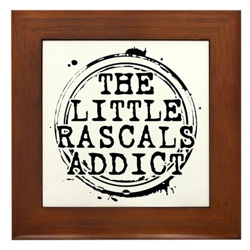 The Little Rascals Addict Framed Tile