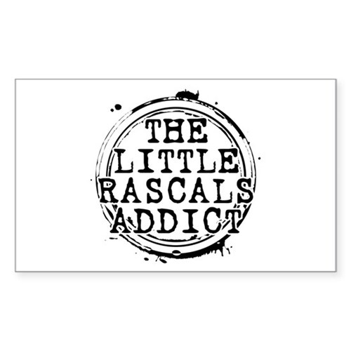 The Little Rascals Addict Rectangle Sticker (10 pa