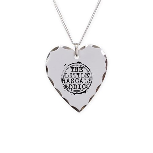 The Little Rascals Addict Necklace Heart Charm