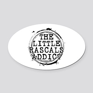 The Little Rascals Addict Oval Car Magnet