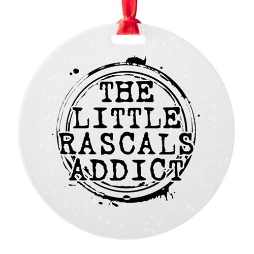 The Little Rascals Addict Round Ornament