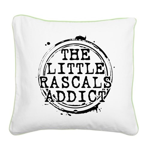 The Little Rascals Addict Square Canvas Pillow
