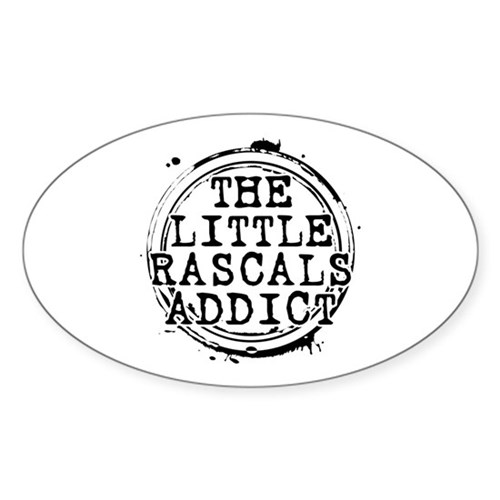 The Little Rascals Addict Oval Sticker