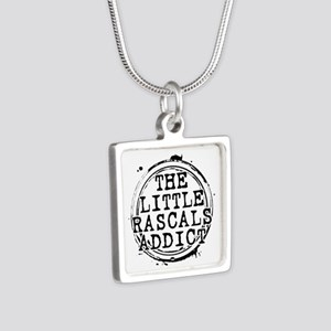 The Little Rascals Addict Silver Square Necklace